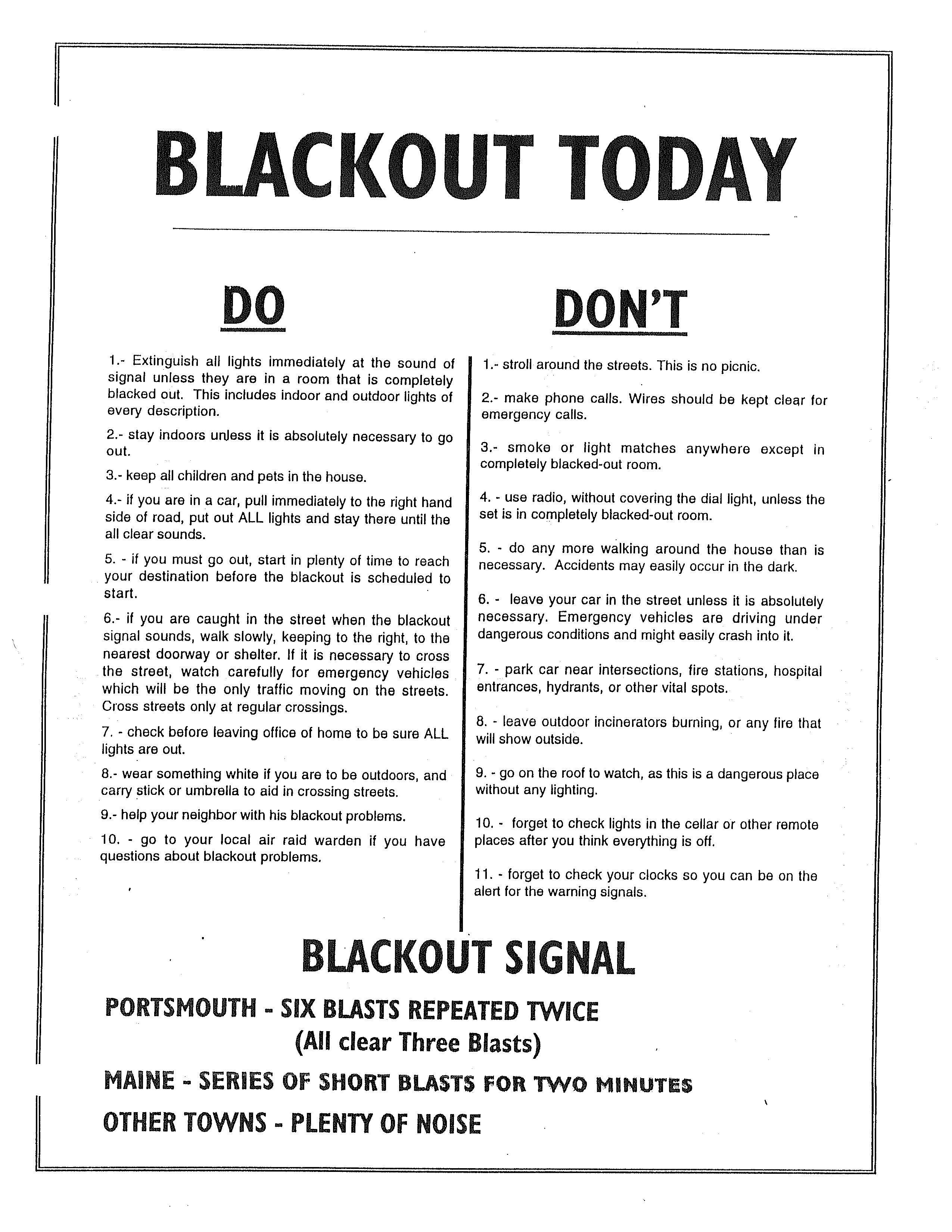 Blackout curtains ww2 - Rules For Bombing Blackouts